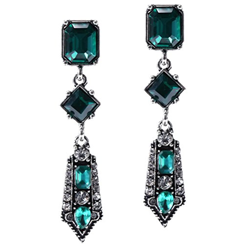 ArtiDeco 1920s Ohrringe Boho Damen Retro Bohemian Stil Dangle Ohrringe Damen Gatsby Kostüm Accessoires (Stil (Dangle Kostüm Ohrringe)
