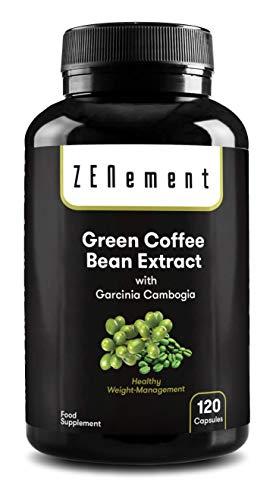 Extracto de Café Verde Natural con Garcinia Cambogia pura, 120 cápsulas, para perder peso, quemar...
