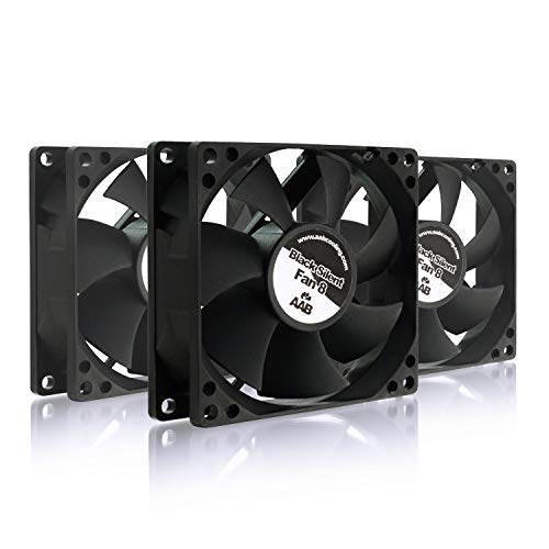 4 Stück Gehäuse (AAB Cooling Black Silent Fan 8 - Leise und Efizient 80mm Gehäuselüfter mit 4 Anti-Vibration-Pads - Kühler | Gehäuse Lüfter | Cooling Fan | Wentilator - Wertpaket 3 Stück)