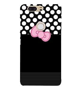 Black Dot Cute Design 3D Hard Polycarbonate Designer Back Case Cover for Huawei P8