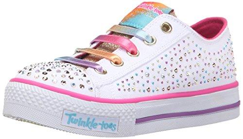 Skechers Twinkle Shuffles Twirly Toes, Running Mixte Enfant Blanc