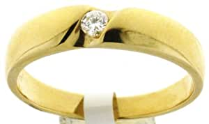 Modern 18 ct Gold Ladies Diamond Ring Brilliant Cut 0.08 Carat H-I1 Size L