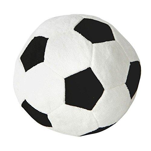 Annastore Ball im Fußball Design Ø 25 cm aus Plüsch, Supersoft (Fußball Plüsch)