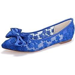 Sarahbridal , Damen Pumps Blau blau