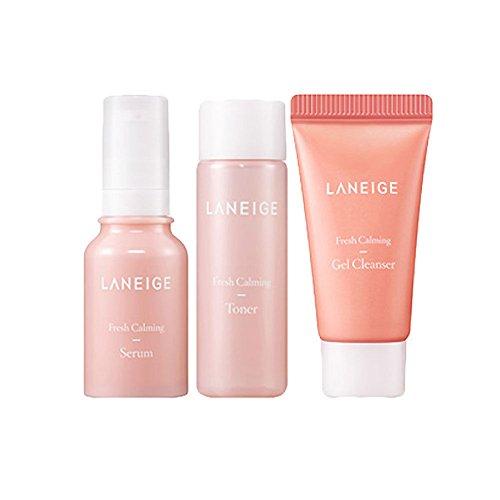 Laneige Fresh Calming Trial Kit (3 items) Gel Cleanser+Toner+ Serum