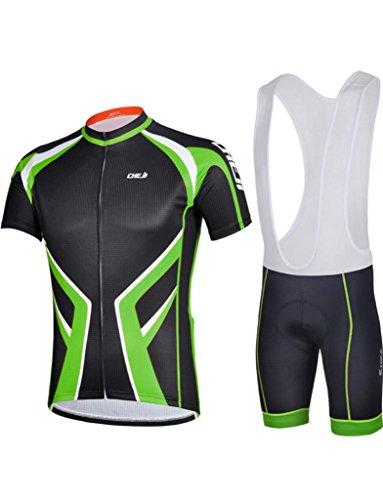 Herren-rad-trikot (iCreat Herren Sommer Rad-Trikots kurzen Armeln Shirt Hemd Mit Strap Shorts Polyester Radbekleidung S/M/L/XL/2XL/3XL)
