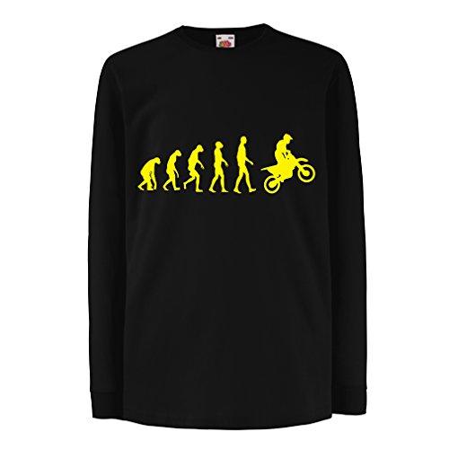 lepni.me Niños/Niñas Camiseta evolución del Motocross, Camisa de la Motocicleta, Desgaste de...