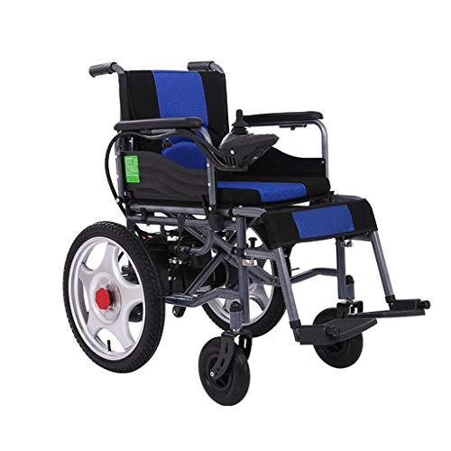 Aajolg Sedia a rotelle elettrica,Motore Doppio da 250 W Batteria al Piombo 24V Archiviazione Sedia a rotelle per Trasporto Elettrico, sedie a rotelle elettriche per Anziani, rollator con Sedile