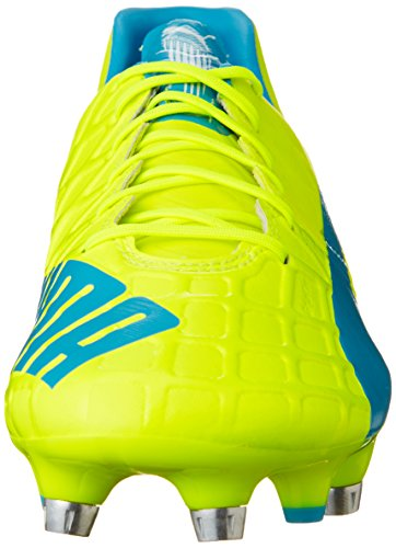 Puma Evospeed 1.4 Mixed Sg, Chaussures de football homme Multicolore (Safety Yellow/Atomic Blue/White)