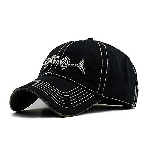 Unisex Baseball Cap Herren Damen Stickerei Verstellbar Fashion Fishbone Casual Chic Kleidung Strand Urlaub Reisen Und Andere Outdoor Ten (Color : #2, Size : One Size)