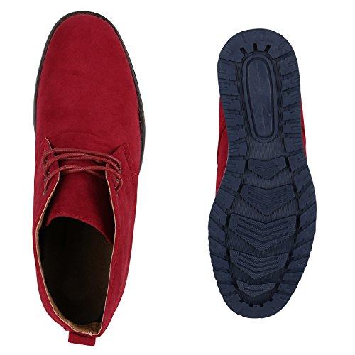 Desert Velours Herren Rot Schuhe Schnürer Boots Klassische qTUEg4x