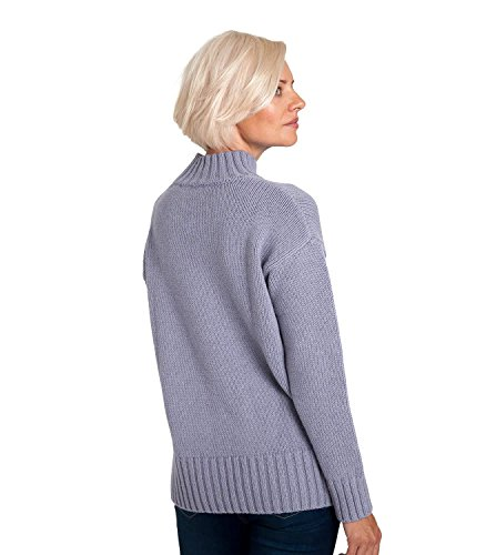 WoolOvers Pull épais à col cheminée - Femme - Mélange Alpaga Dusky Lilac