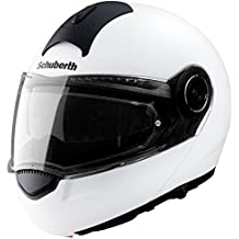 Casco de Moto, blanco, base de Schuberth C3, Motorcycle Schuberth C3 Helmet White M Uk, bianco, M