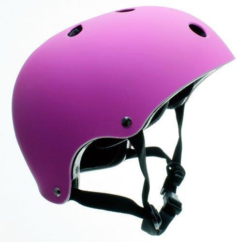 Sfr essentials caschetto skate/monopattino/bmx - 49-52cm, viola opaco fluorescente