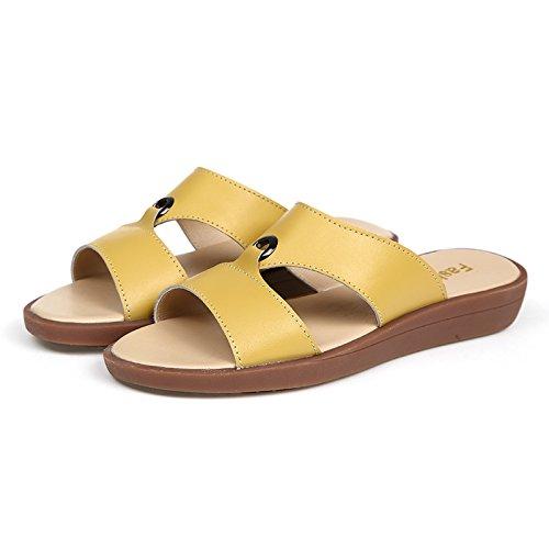 ZPPZZP Ms sandali pantofole piana e fondo piatto stile minimalista 36EU