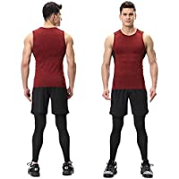 Summer Breathable Men's Sport vest Sportswear Set Fitness Clothing 3 Colors for Gym Bicycle Running