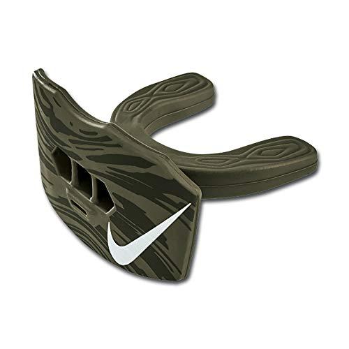 Nike Game-Ready Lip Protector Mundschutz mit Lippenschutz + Strap, Senior, Olive -