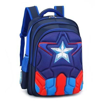 Magic Union Boys Spine Protection Backpack Alleviate Burdens Children Shoulder Backpack Elementary School 1-6 Grade School Bags – Dark Blue