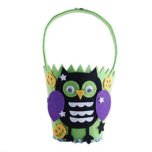 MX kingdom Halloween Süßigkeitstasche Halloween Süß Candy Bag Verpackung Kinder Party Aufbewahrungstasche Geschenk 10 Packs Eule