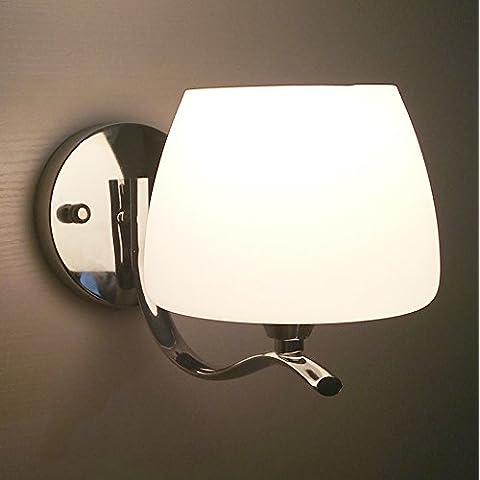 midtawer Leggere semplici ed eleganti caldo utility creative camera da letto scala luci da parete, crema di funghi)