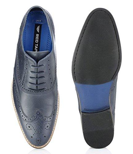 Red Tape Herren Formelle Leder Halbschuhe Schnürschuhe Fashion Schuhe in Tan Burgandy braun schwarz Navy