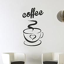 Wall Art Love tazas de café y té té, de vinilo de pared para cocina restaurante Pub Decor