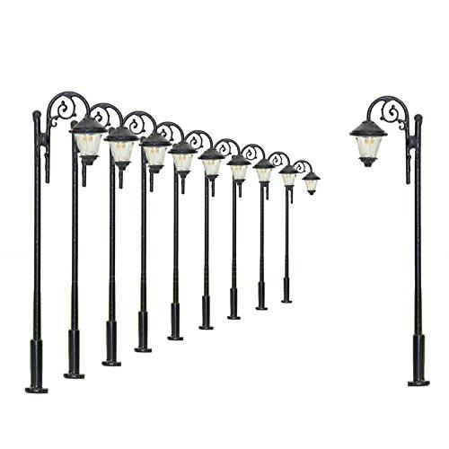 Evemodel 10 Stk. LED Lampen 65mm Spur H0 / 00 Leuchte Straßenlampen NEU