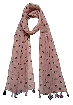 FusFus Women's Cotton Printed Stoles (Multicolour, Free Size) - Set of 6