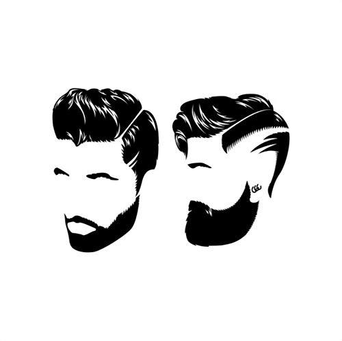 Mgdtt Mann Friseur Friseur Personalisierte Hipster Wandaufkleber Baber Shop Dekoration Friseur Name 40X58Cm