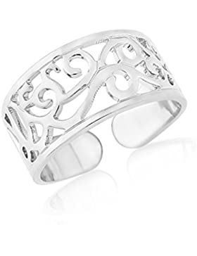KStarz-Jewellery Silber-Zehenring mit keltischem Design, verstellbar, mit Geschenktüte