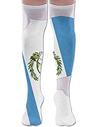 Men Women Guatemala Map Flag Casual Novelty Knee High Athletic Sock Outdoor Gift Unisex