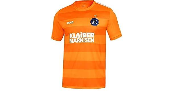 Jako Fu/ßball Karlsruher SC 3rd Trikot 2018 2019 Herren KSC Ausweichtrikot Kurzarm orange