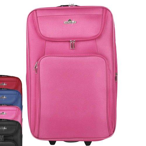 5 TLG. Trolleyset Kofferset Reisekoffer Handgepäck XXL, XL, L, M, S (Pink) - 2