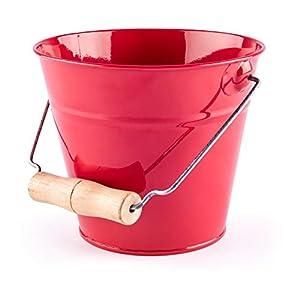 Woodyland 102191465 - Cubo de jardín, Color Rojo