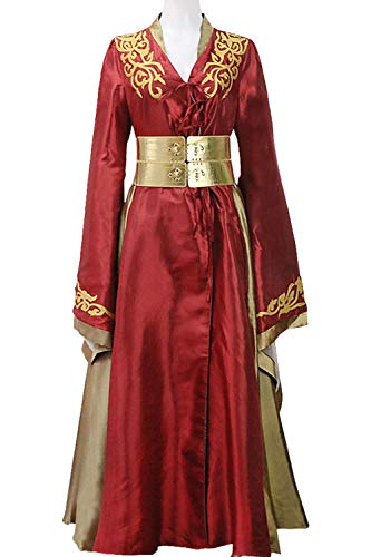 Game of Thrones Cersei Lannister Rotes Luxuskleid Cosplay Kostüm Damen L