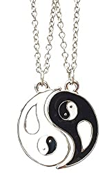 Ying & Yang 2 Piece Friendship Necklace Pendants