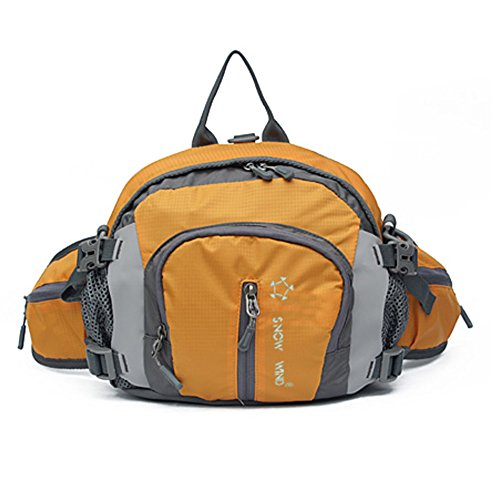 Outdoor peak Unisex Nylon wasserdicht Gürteltasche Multifunktions-Tasche Kameratasche Reiserucksack Kettle Paket Tagetasche mit Schultergurt Halstuch Fahrrad Bergsteigen() Orange