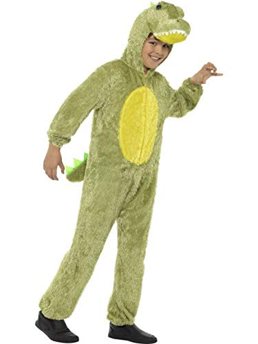 Luxuspiraten - Kinder Jungen Mädchen Kostüm Plüsch Krokodil Crocodile Alligator Fell Einteiler Onesie Overall Jumpsuit, perfekt für Karneval, Fasching und Fastnacht, 122-134, ()