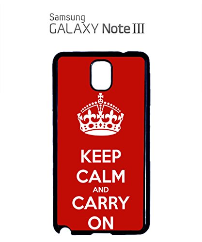 Keep Calm And Carry On Mobile Phone Case Samsung Note 3 White Noir