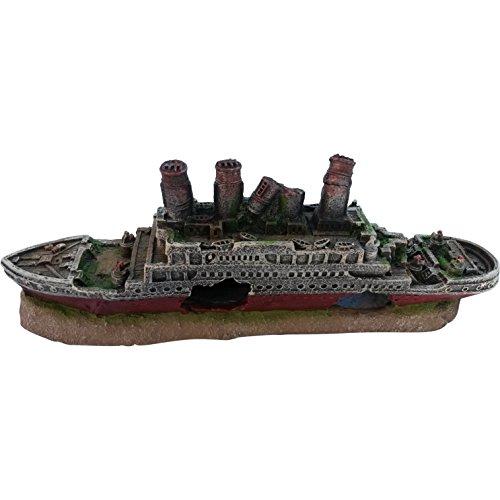 Gesunkenes Schiff, Schiffswrack, als Aquarium-Dekoration Gesunkenes Schiff Dekorationen