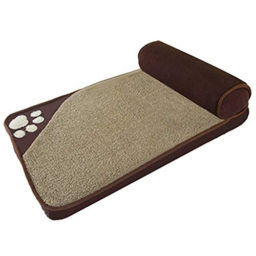 Eyxia-Pet Master Brown Kennel Large Dog Kennel Medium Hund Husky Jinmaotaidi Small Dog Hundehütte Pet Bed Pillow Bed Hunde House Sofa Kennel Square Abnehmbarer Bezug Pat. No. (Size : L) (Kennel Hund Medium)