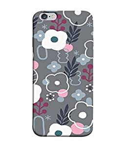 PrintVisa Designer Back Case Cover for Apple iPhone 6 Plus :: Apple iPhone 6+ (The Pattern never seen before in Grey)