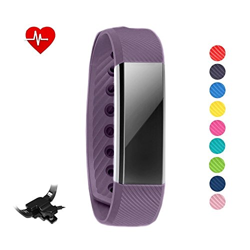 Pulsera inteligente y reloj Sleepa con control del sueño para iPhone y Android. Reloj podómetro que registra la actividad física y la frecuencia cardíaca, de STAY Active, morado