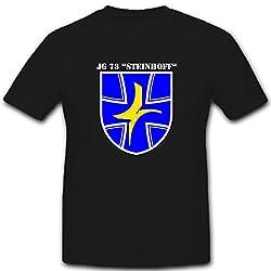 Jagdgeschwader Luftwaffe Bundeswehr Wappen Jg 73 Steinhoff - T Shirt #1506, Farbe:Schwarz, Größe:Herren M