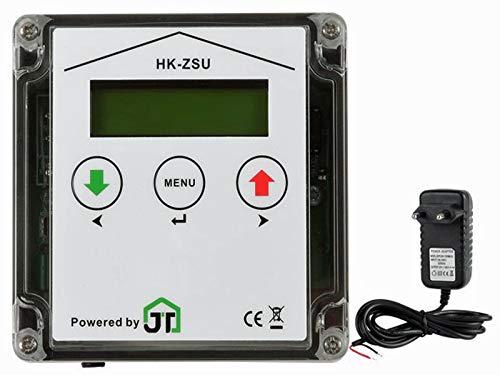 JOSTechnik JT-HK Klappensteller für automatische Hühnerklappe mit echter Nothaltefunktion und Zeitschaltuhr