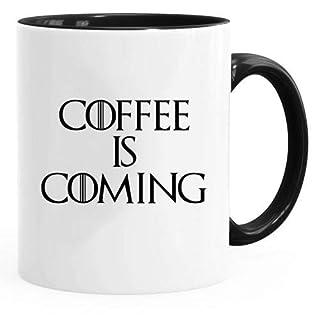 Acen Merchandise Game of Thrones Inspired 'Coffee is Coming' - Fun Tasse 313ml Kaffee Tee Becher –Perfekt Valentines/Ostern/Sommer/Weihnachten/Geburtstag/Jahrestag Geschenk