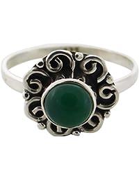 872e0383e2d5 verde mujer ónix Anillo de plata de ley 925 joyas de plata de la moda para