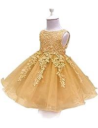 f6784ab3e BOZEVON Vestidos de Fiesta para Niñas - Moda Sin Mangas de Encaje de Tul  Mullido Vestido