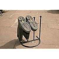 Poppy Forge Unique Design Wellington Boot Rack for 4 pairs & Umbrella Stand