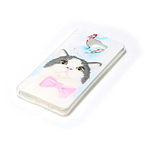 TXLING iPhone 6 pouces Case Coque Souple Transparente TPU Silicone en Gel Shell Premium Ultra Mince Skin de Protection Bumper Cover pour iPhone 6 6S 4.7 - Fleur de prunier Chat
